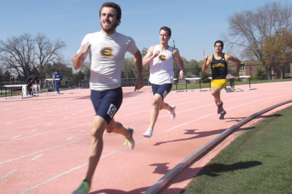 Track teams spread out at three meets; men break two school records