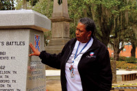 Joanne Bland spoke to students on the Civil Rights Pilgrimage in January.
