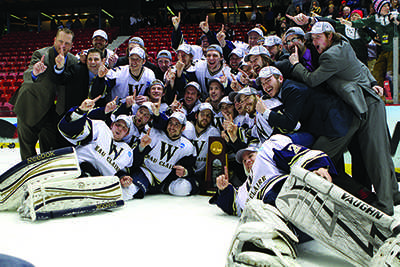 Men's hockey captures first national championship in school history