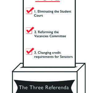 Three referenda up for vote during next week's campus elections