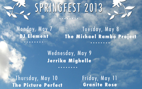 Springfest kicks off next week