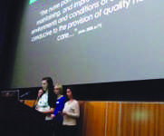 Nursing students present  capstone clinical experiences