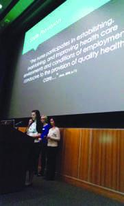 Nursing students present  capstone clinical experiences