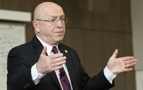 UW-Eau Claire welcomed UW System President Ray Cross for group-based listening session