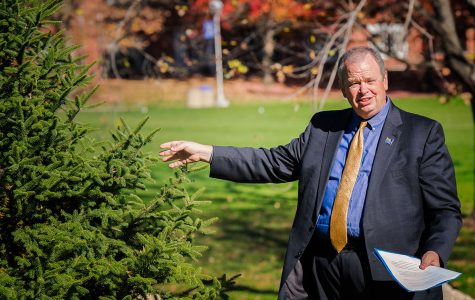 Planting 100 trees in honor of the university's centennial