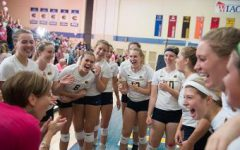Women's volleyball wins two of three matches in memory of Sandy Schumacher