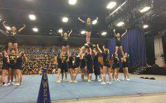 UW-Eau Claire's cheer and stunt team is flying high