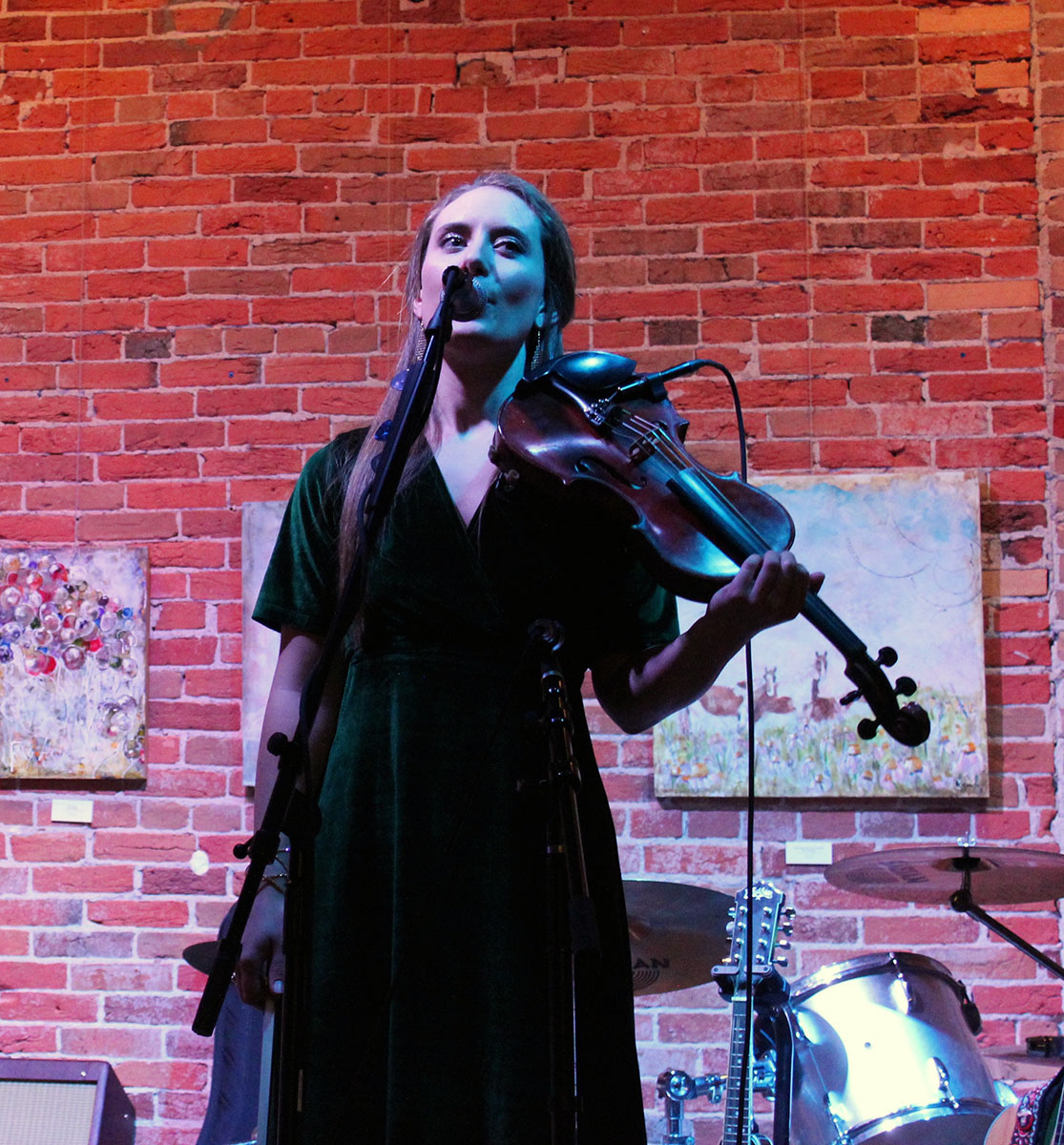 Singer-songwriter Bri Murphy, an Eau Claire native who spent the last five years in Nashville, Tennessee returned Saturday night for a concert at the Volume One Gallery. She switched between playing guitar, fiddle and the mandolin during her performance.