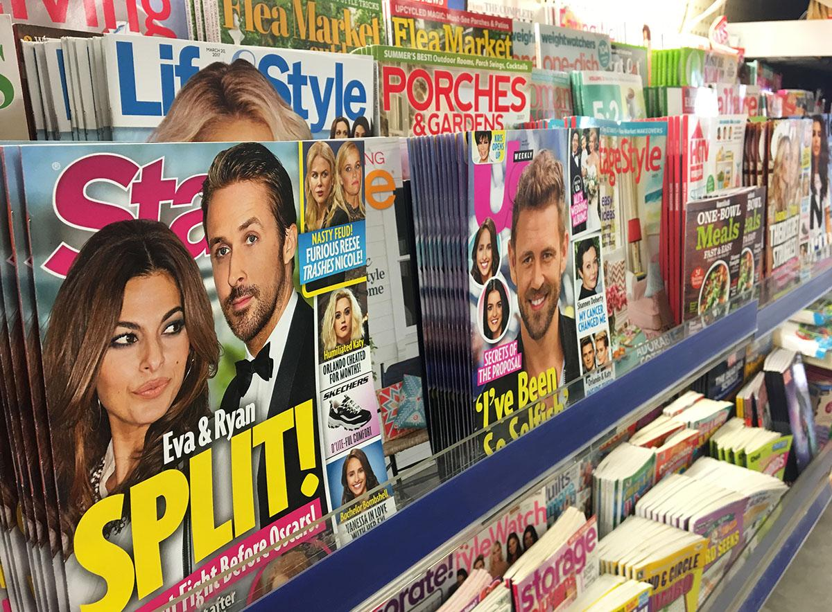 Celebrity gossip magazines are following famous people too far by invading their privacy and painting their images in a false light for the public.