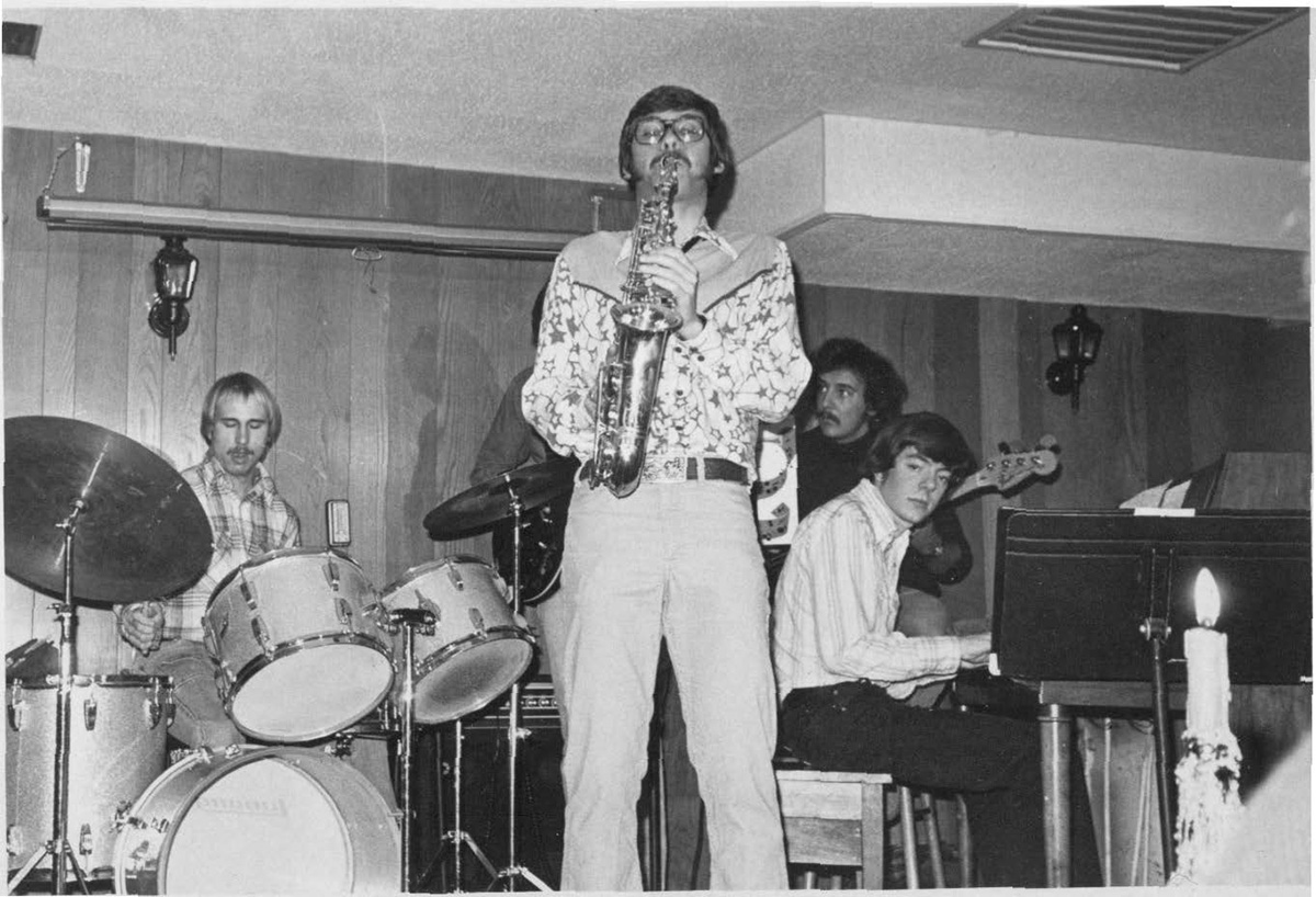 This Saxophone player performed for the Eau Claire Jazz Program during February of 1978.