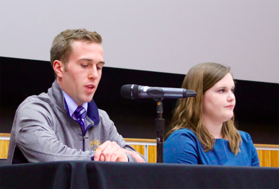 Katy+McGarry+and+Nick+Webber+will+serve+as+Student+Body+President+and+Vice+President+during+the+61+Session+of+Student+Senate
