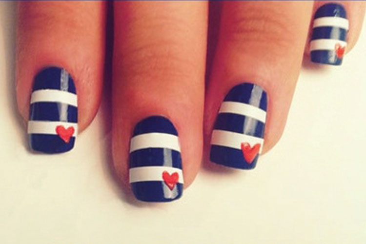 Nail polish ideas using tape best nails 2018 nail ideas with tape prinsesfo Image collections