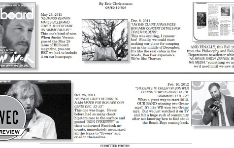 Axis of Brilliance: Redux UWEC Homepage Bon Iver Headlines Edition