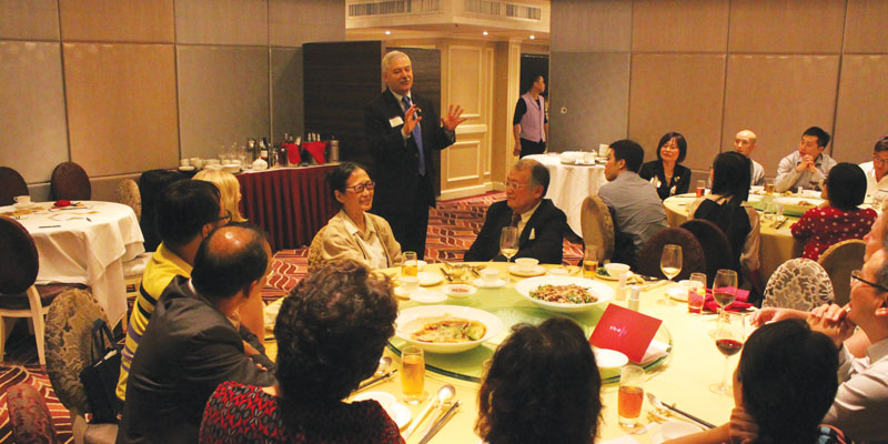 Delegation hosts two alumni gatherings in China