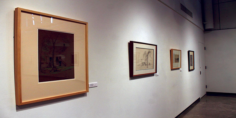 """The current display at Foster Art Gallery, """"Masterworks for the Hillstrom Museum of Art,"""" features art from the Hillstrom Museum of Art in St. Peter (Minn.) at Gustavus Adolphus College. The display is unusual compared to typical displays of contemporary art."""