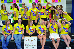 Some members of Colleges against Cancer are seen here at last years Relay for Life event.