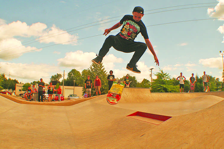 Skaters shred new turf