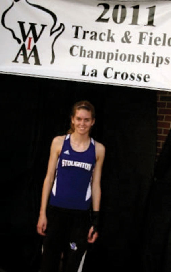 Shelby Knispel started running competitively when she was in 7th grade and continued  practicing with her team at Stoughton High School after being diagnosed with rheumatoid arthritis.