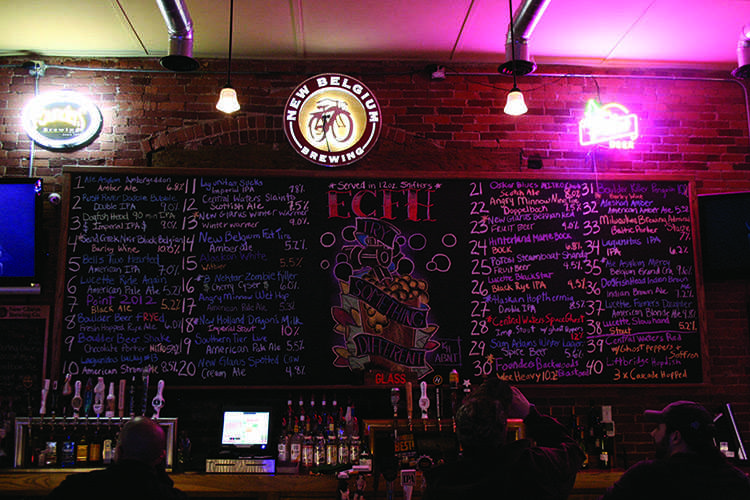The Firehouse is Eau Claire's only bar to specialize in microbrews and boasts 40 revolving taps. © 2014 Nate Beck.