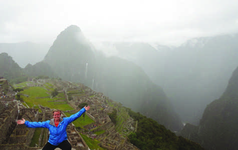 Mary Beth Hipple, UW-Eau Claire senior, poses for a photo at Machu Picchu  in Peru, South America. Machu Picchu  is one of the seven wonders of the world. © 2014 Martha Landry.