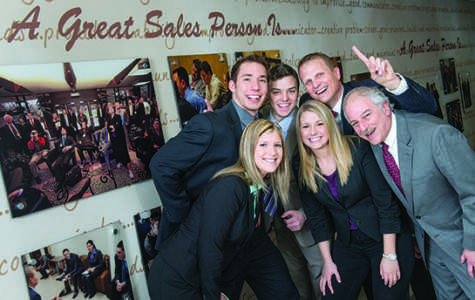 UW-Eau Claire College of Business students, who qualified to compete in the National Collegiate Sales Competition, posed for pictures on Friday, February  7, 2014 in Schnieder Hall.