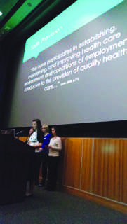 PRESENTATIONS: Nursing Capstone students present their evidence based on practice solutions to address real-life clinical issues on May 5 in Woodland Theater. Submitted