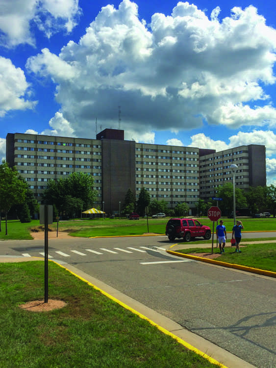 Towers Hall tied for first place in the Recycling Contest, held in the residence halls earlier in March.