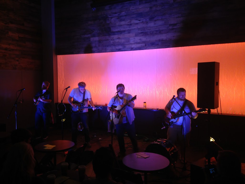 A mandolin, a banjo, a guitar and a bass: Them Coulee Boys, made up of members Beau Janke, Jens Staff, Michael Aschbacher and Soren Staff performed original songs and cover songs Saturday night.