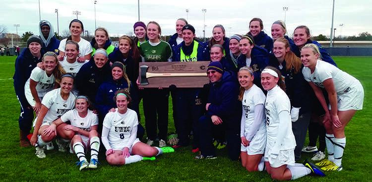 Women's soccer axes Stout