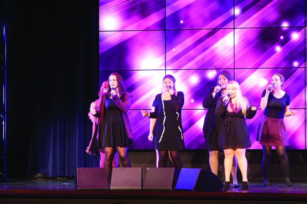The all-female a cappella group Callisto performed in the first half of the A Capella Extravaganza.