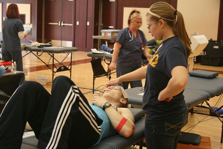 Alpha Phi Omega holds biannual blood drive