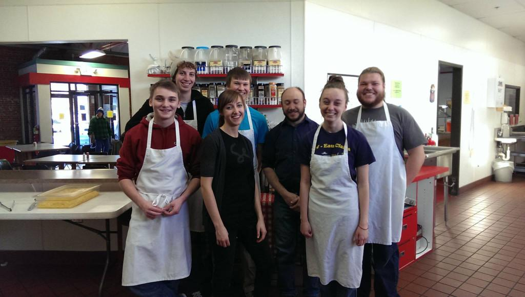 Members of the Secular Student Alliance volunteering at the Community Table November 16.