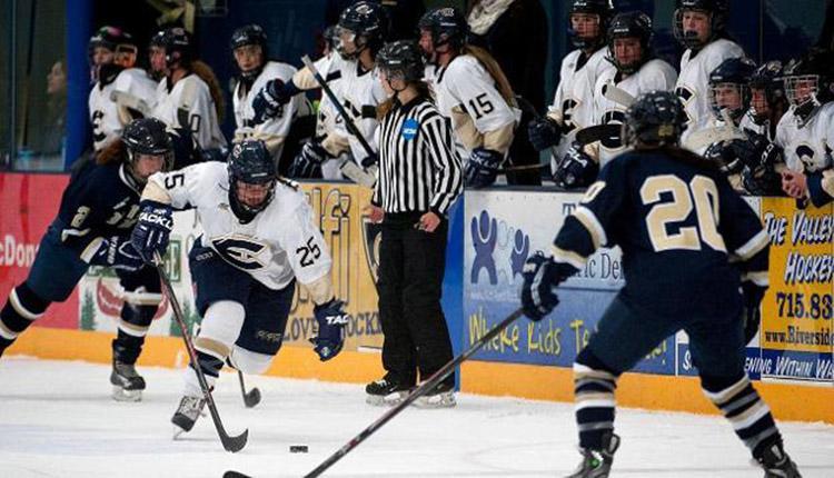 Blugold Women's Hockey falls to Stevens Point
