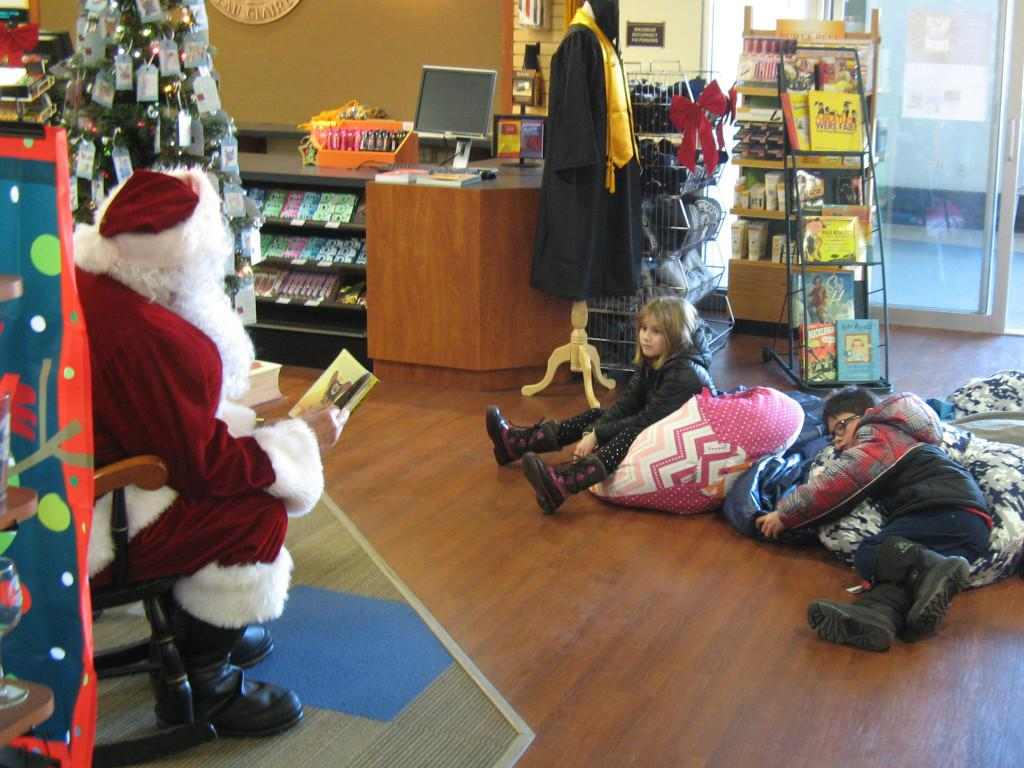 Santa found time in his busy schedule to visit UW-Eau Claire on Saturday. He came to the University Bookstore to read to children and spread Holliday cheer.