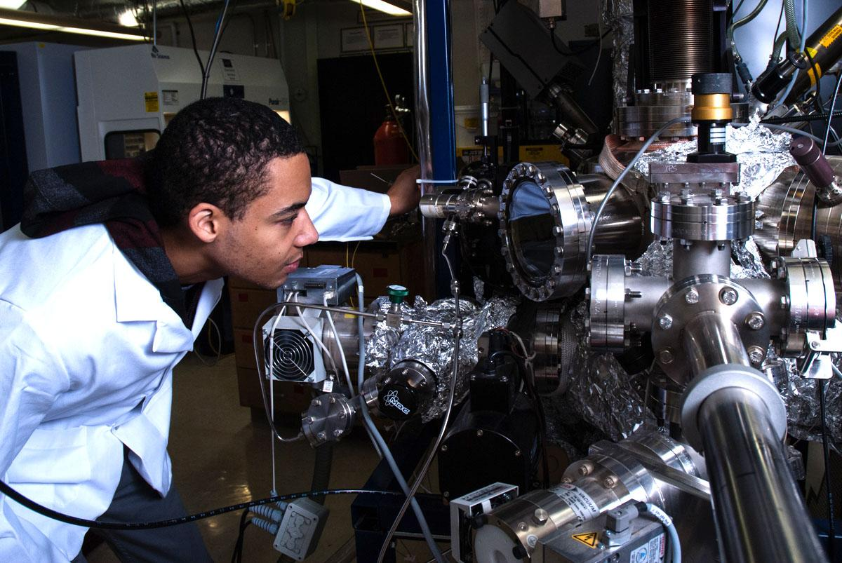 ANNA MATEFFY / The Spectator - RHODES LESS TRAVELED: Tayo Sanders II is a materials science major at UW-Eau Claire. Because of his Rhodes Scholar honor, he has an opportunity to study at Oxford University