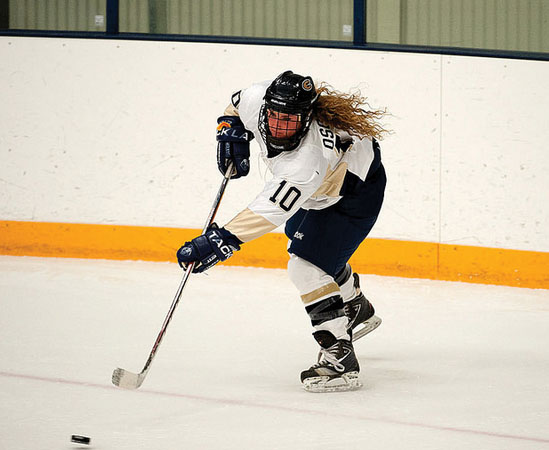 Junior Julia Osowski and the women's hockey team picked up their first win on Nov. 25 against Hamline University (Minn.) 2-1. The Blugolds are now 1-8 on the season and are preparing for a weekend matchup with No.6 UW-Stevens Point. - Submitted