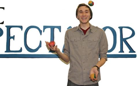 Staff Writer Brian Sheridan hones his juggling skills