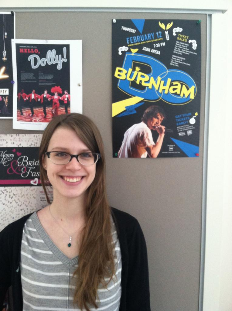 Senior Stephanie Schenk is a psychology major at Eau Claire, and plans to buy tickets for Burnham's show.