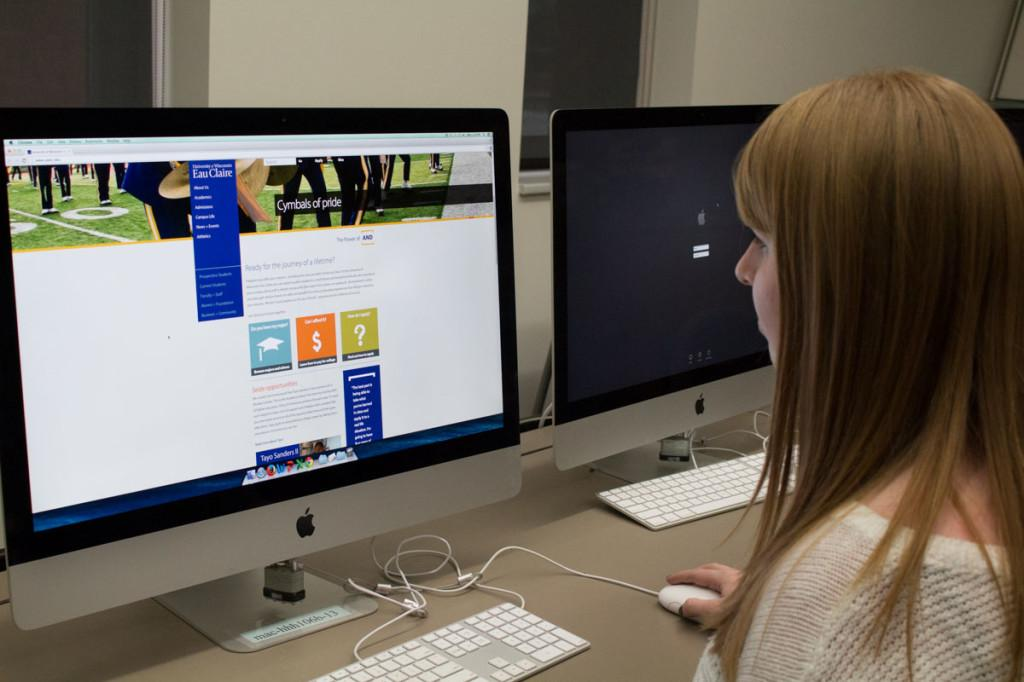 Senior Kayla Menzie says although the new website is attractive for incoming students, it is not user friendly for current students.