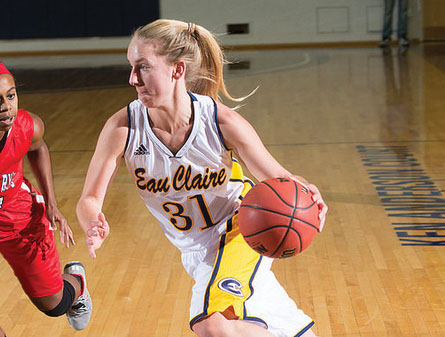 UW-Eau Claire women's basketball player Teenie Lichtfuss has averaged 17.5 points per game since Jan. 7. A first-team all-WIAC performer a year ago, Lichtfuss has scored in double figures every game since Dec. 13.