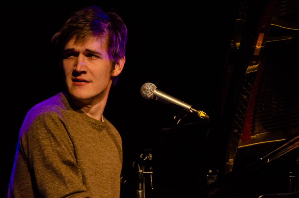 Comedian Bo Burnham performed Thursday in Zorn Arena.