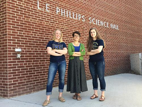 Elizabeth Stubbs and Sarah Knutson were awarded the Goldwater scholarship for their commitment to sciences and undergraduate research in their departments. Kelsey Steinke received an honorable mention.