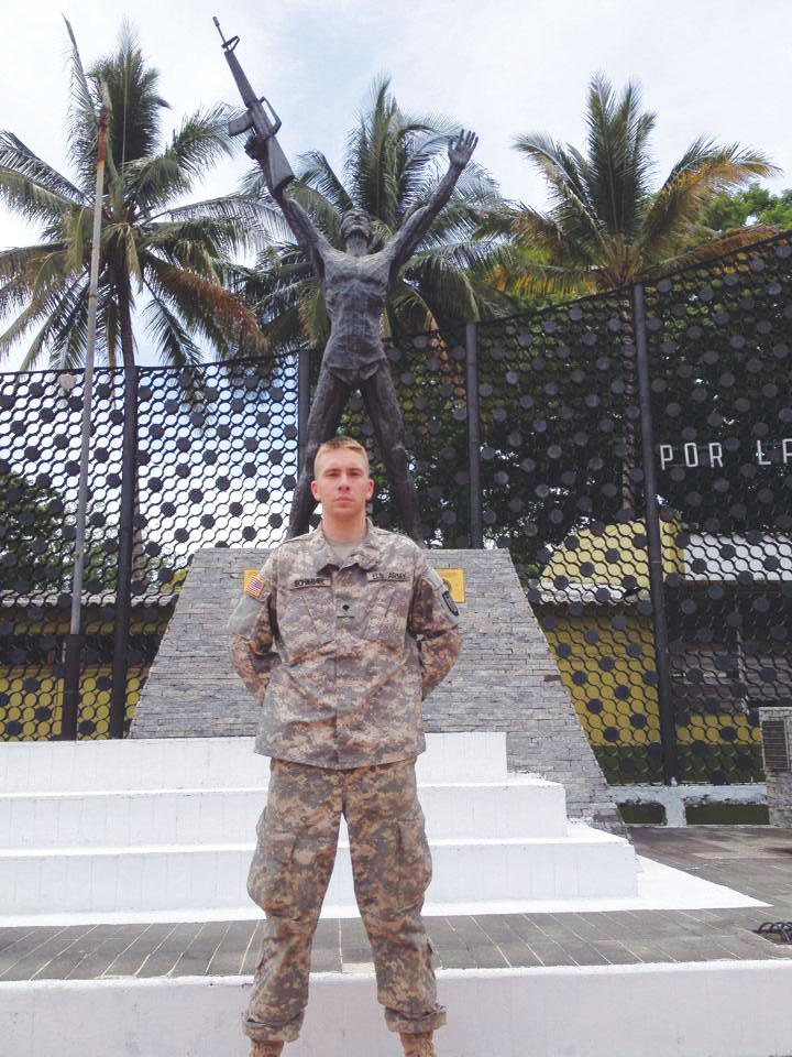GOAL IN MIND: Billy Schimmel spent two weeks this spring at an Army base in El Salvador. The criminal justice major hopes to one day work for the FBI or CIA.