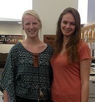 Lauren Kritter and Lauren French have both spent time serving in Eau Claire.