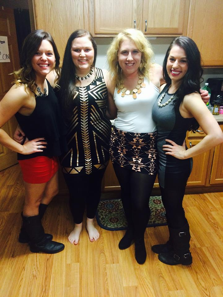 Hailey Novak (right) and friends.