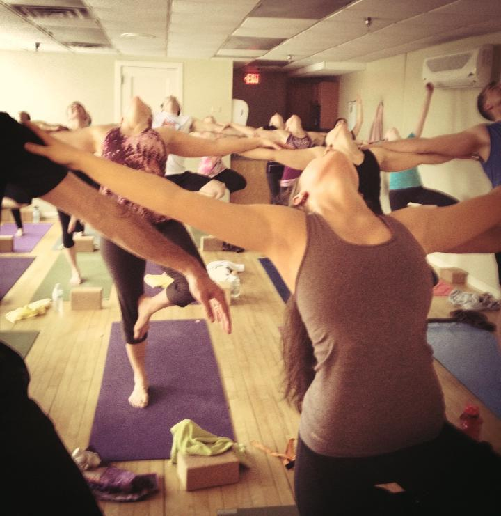 Hailey+Novak+embraces+the+little+things+by+partaking+in+group+%E2%80%9Ctree+pose%E2%80%9D+during+a+yoga+class.