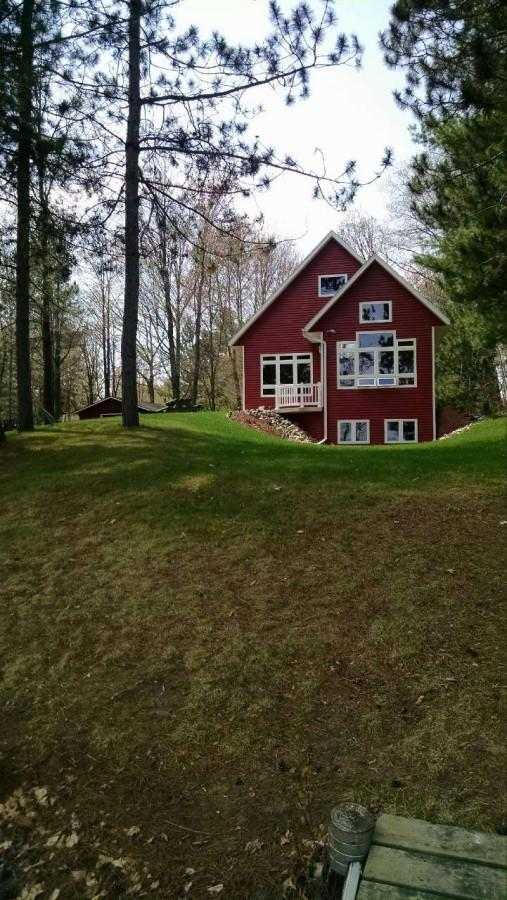 Nass's cabin which was built three years ago in Holcombe, Wisconsin on Lake Holcombe is his summer getaway spot.
