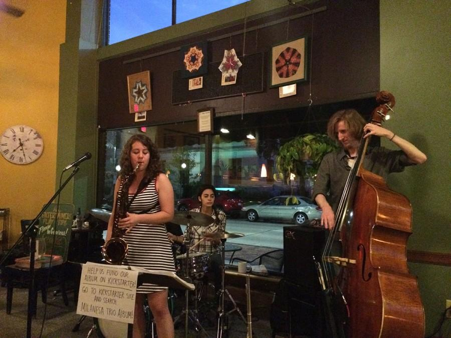 The Milanesa Trio, a Jazz music group, livens up the Acoustic Cafe last Friday