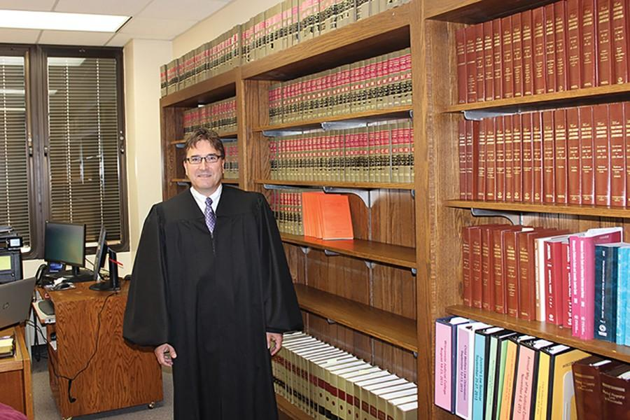Former UW-Eau Claire professor Brian Wright serves as judge Eau Claire county branch one. Gov. Scott Walker appointed him last July.
