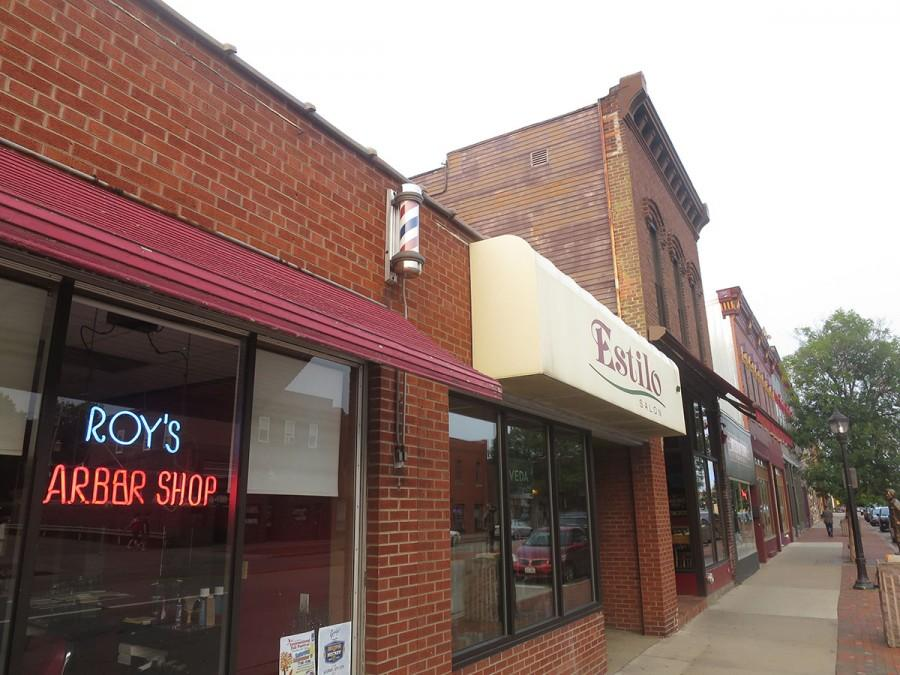 Roy's Barber Shop and Estilo Salon are two of four businesses on Water Street that offer hair cutting and styling services to students for a discounted price.
